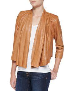 "Alice + Olivia #leather #jacket featured in ""Six Items to Improve a Boring Wardrobe"" // The Designer's Studio | Hilton Hollis"