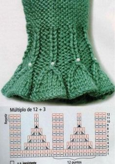 Knitting result for smocking pattern - Knitting and Crochet Baby Knitting Patterns, Knitting Stiches, Knitting Charts, Lace Knitting, Knitting Designs, Knit Crochet, Crochet Patterns, Knit Edge, Wrist Warmers