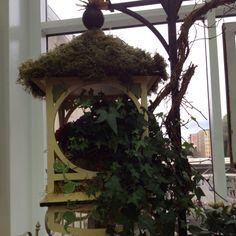 Moss & ivy birdhouse!