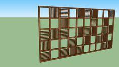 Painel Ripado de Madeira - 3D Warehouse