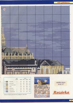 Прага Cross Stitch House, Photo Wall, Pattern, Praha, Buildings, Landscapes, Houses, Create, Places