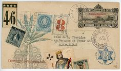 Original Faux Mail by Nick Bantock, bestselling author of Griffin and Sabine.