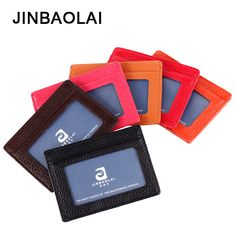 JINBAOLAI 6 Colors Genuine Leather Purse Ultra Thin Wallet Short Unisex Wallet Bank Card Package Card Pack  #Affiliate