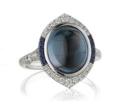 Christophe Danhier blue topaz cabochon Look ring