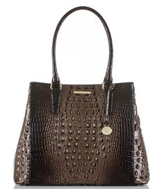 Brahmin Melbourne Collection Joan Croco-Embossed Tote