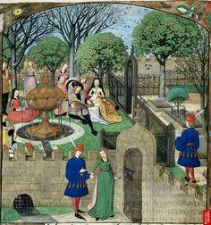 Garden of Pleasure. de la Rose. Harley 4425 BL by tony harrison, via Flickr