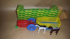 1940's cheerio toy company Vintage Toy Tractor-trailer by farmfunk