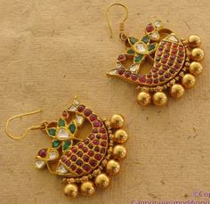 Fish Shaped Ruby Earrings from Mehta Jewellers www.addiga.com