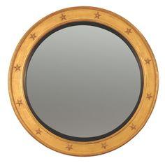 Regency Convex Mirror with Gold Star Decoration Convex Mirror, Custom Mirrors, Star Decorations, Gold Stars, Regency, Frame, Coding, Design, Picture Frame