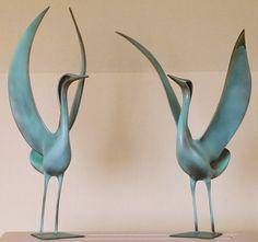 Bronze Sculptures of Birds by Trevor Askin