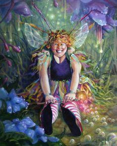 """faylee"" by Corena Ricks Fairy Room, Fairy Art, Framed Wall Art, Wall Art Prints, Family Canvas, Art Terms, Unicorns And Mermaids, Custom Canvas, Fantasy Art"