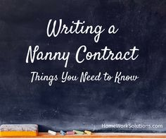 Free Tip Sheet and opportunity to download our PDF sample Nanny Work Agreement Contract