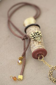 Or keep the cork from your wedding day..make into necklace