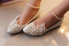 Wedding Shoes, Lace Bridal Shoes,Lace Bridal Flats,Wedding Flats ...