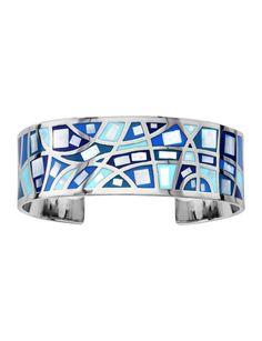 Bracelet acier mosaïque