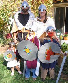 The Viking Family - Great Halloween Costume Idea!  Love the boy's beard!