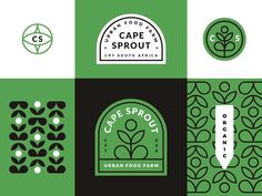 Cape Sprout designed by Chris van Rooyen. Connect with them on Dribbble; Graphic Design Tips, Graphic Design Posters, Graphic Design Typography, Graphic Design Inspiration, Book Design, Cover Design, Layout Design, Design Design, Cake Branding