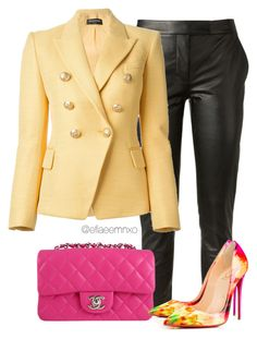 """Waiting for spring"" by efiaeemnxo ❤ liked on Polyvore featuring Tamara Mellon, Balmain and Chanel"