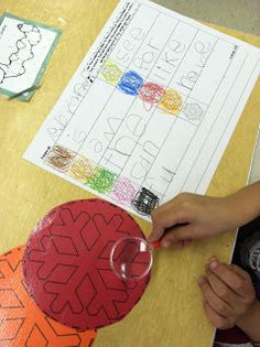 sight words typed very small so that students search for them with a magnifying glass