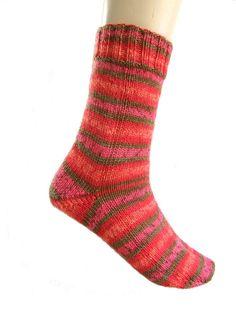 Sokken Roze/Oranje/Rood maat 38  39 40 van Carolinevantveer op Etsy