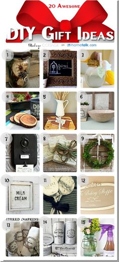 20 Awesome {DIY Gift Ideas!} | curated by 'The Modage Cottage'