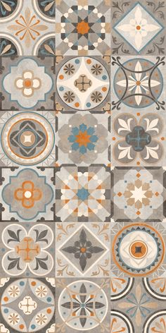 Decorating your floor with ceramics can add a much-needed pop of color to your home. Ceramic tiles and quite affordable and give your home an elegant and unique touch without drowning out other are… Floor Patterns, Tile Patterns, Textures Patterns, Islamic Patterns, Azulejos Diy, Tile Design, Pattern Design, Pattern Art, Tiles Texture