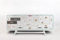 WHITE MONDRIAN sideboard by Boca do Lobo. When art becomes a sideboard your room acquires an evermore inspiring atmosphere. Luxury furniture, limitted edition, home decor ideas, design ideas, designer furniture. For more inspirations: http://www.bocadolobo.com/en/limited-edition/