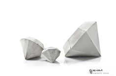 LiViNG - Concrete Diamonds Set of 3 - PASiNGA photographs + design