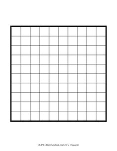This is a basic 100-square grid to use for number games or