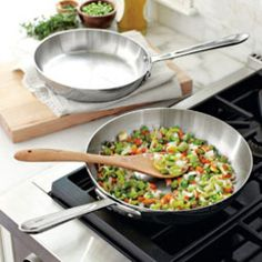 All-Clad d5 Stainless-Steel French Skillets with Littledeer Serving Scoop
