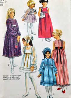 Simplicity 9133  Adorable Girls' Dresses in Several by Clutterina