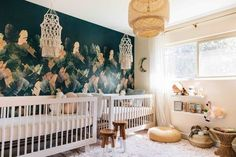 Bohemian nursery wallpaper - Home Decorating Trends - Homedit
