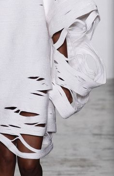 Sculptural Fashion - dress with with experimental structure; innovative fashion // Parsons MA Spring 2016