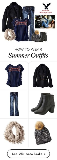 """""""Winter Wanderlust with American Eagle: Contest Entry"""" by margaretkellogg on Polyvore featuring American Eagle Outfitters"""
