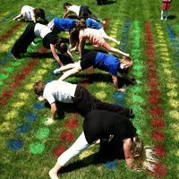 Twister for a huge group! ~ I'm thinking possible VBS or maybe even Sunday School