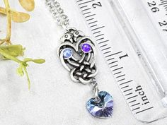 Love Birds Knot Celtic Necklace Raven Crystal Wiccan Jewelry / image 3 Wiccan Decor, Wiccan Altar, Witch Potion, Celtic Necklace, Wiccan Jewelry, Witch Fashion, Celtic Knot, Love Birds, Raven