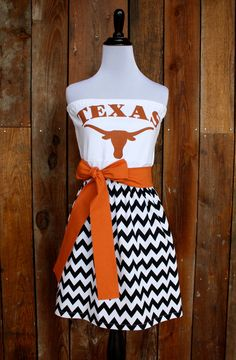 University of Texas Longhorns Game Day Dress by Jill Be Nimble on Etsy.