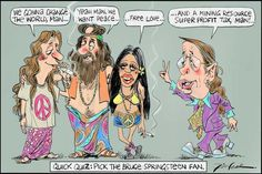 Pick the Bruce Springsteen Fan, Leak, The Australian | Political Cartoons Australia