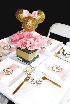 Sophisticated Sweet Minnie Birthday! | CatchMyParty.com