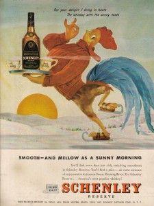 Winter Hot Toddy Schenley 1940s