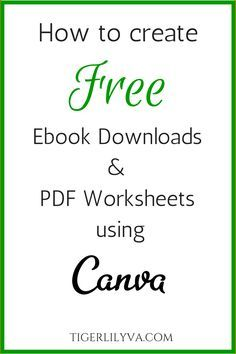 How to create free ebook downloads & PDF Worksheets using Canva