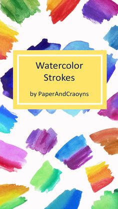 Watercolor Brush Strokes, Ink Strokes, Watercolor Logo Template, Watercolor Clipart, Watercolor Texture, Commercial Use by PaperAndCrayons, #watercolor, #clipart , #strokes , #scrapbooking , #colours