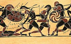 the epic death of achilles - Analyzing Military Tactics in the Iliad by Manousos Kambouris Mycenaean, Minoan, Ancient Greek Art, Ancient Greece, Greek Pottery, Pottery Art, Greek History, Ancient History, Greek Warrior