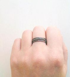 Oxidized Sterling Silver Stacking Rings - Set of 3 by Andy's House of Design on Scoutmob Shoppe