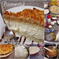 "My Bienenstich recipe is an easy version of the traditional ""German Bee Sting Cake"". Sweet, chewy, nutty top and creamy filling. Yummy!"