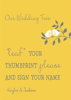 Thumbprint Tree Guest Book Custom Love Birdies by InvitingMoments