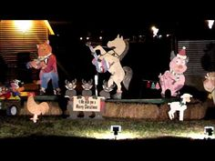 Christmas Lights at J Iverson Riddle in Morganton, NC ~ The Barn Yard, always my favorite as a child!
