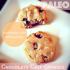 Sweet + Salty Chocolate Chip Cookies! Gluten-free and paleo. #FitFluential #paleo #recipe