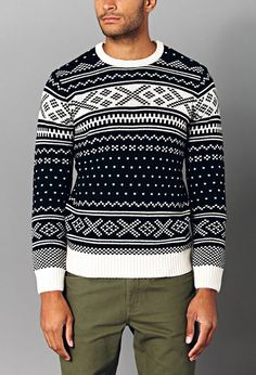 21 MEN Throwback Fair Isle Sweater