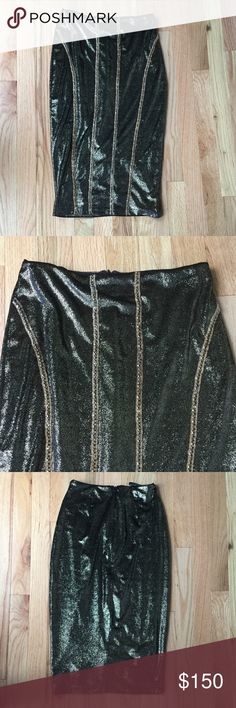 Sheri Bodell velvet midi skirt Velvet midi skirt with hand sewn beads down front. Super sexy for the winter season. Says it's an xs but fits small. Everything gold is in!  Check out the matching crop top as well. Sheri Bodell Skirts Midi